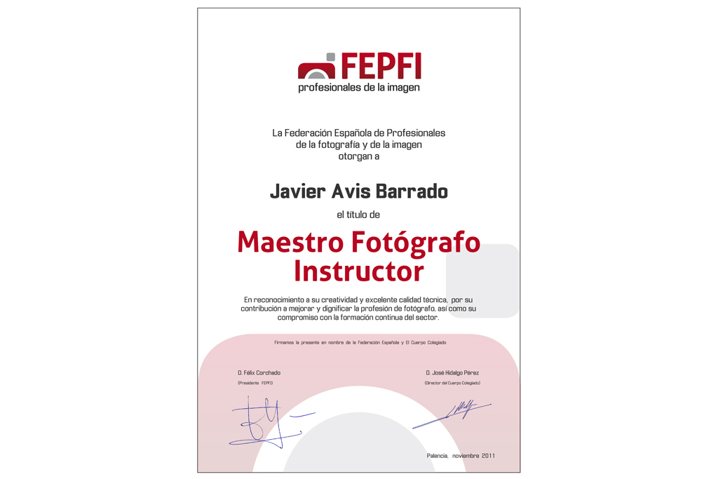 Nombrado Maestro Fotógrafo Instructor